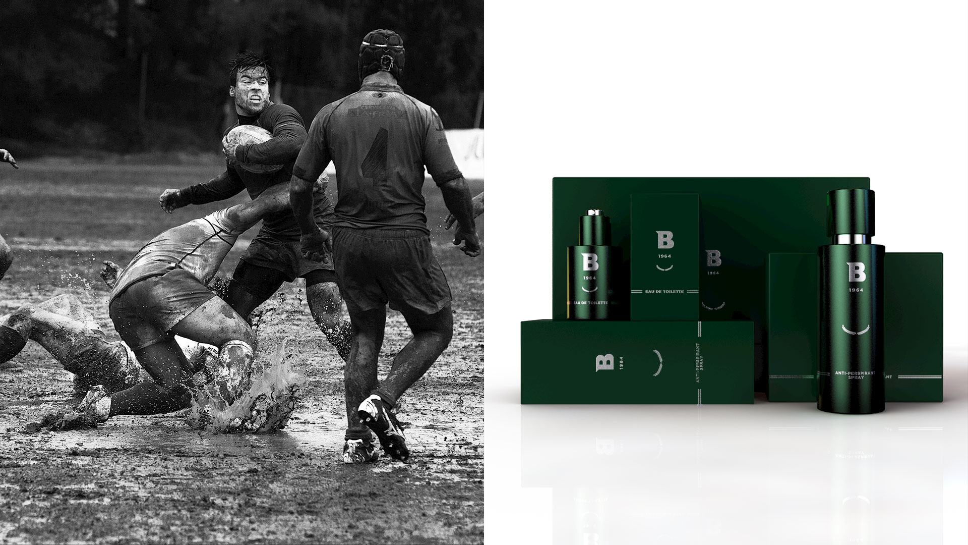 Match de rugby et packagings B1964 par Isuklo